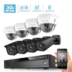 Amcrest 4K 16CH Security Camera System w/4K NVR,  x 4K IP67