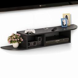 Tribesigns 2 Tier Modern Wall Mount Floating Shelf TV Consol
