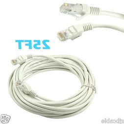 25ft RJ45 Cat5 Patch Cord Cable For Ethernet Internet Networ