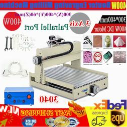 400W 3 Axis 3040 Router Engraver Desktop Engraving Drilling