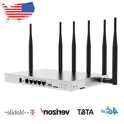 4G LTE WiFi Router AT&T SIM Card T-Mobile Industrial 1200Mbp
