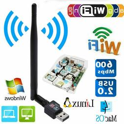 600Mbps Wireless Adapter USB Wifi Router PC Network LAN Card
