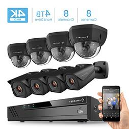 Amcrest 4K 8CH Security Camera System w/ 4K NVR,  x 4K  IP67