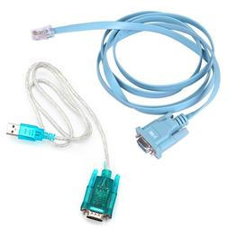 HDE USB to Serial Interface Cable with Serial to RJ45 Consol
