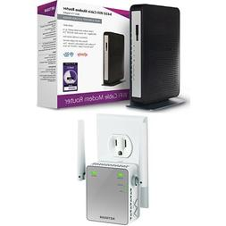NETGEAR N450 WiFi DOCSIS 3.0 Cable Modem Router  Bundle with