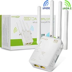 Qoosea WiFi Extender Repeater/Access Point/Router AC1200 Dua