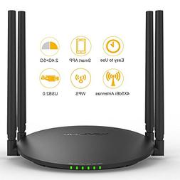 WAVLINK AC1200 Smart Wi-Fi Wireless Router with USB 2.0 Port