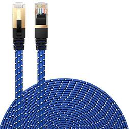 Cat 7 Ethernet Cable, DanYee Nylon Braided 10ft CAT7 High Sp