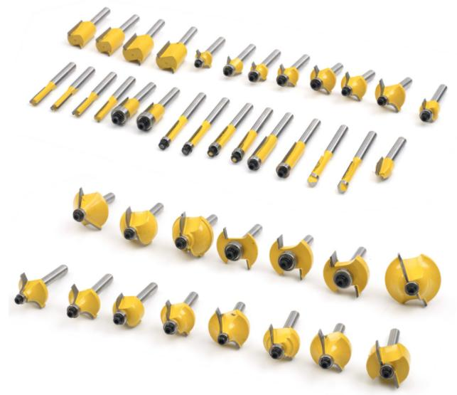 100pc 1/4Shank Bits For Milling