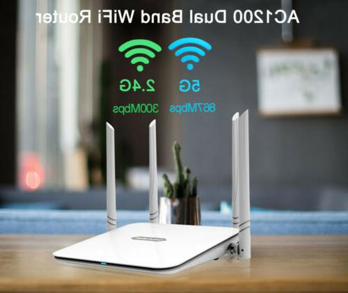 1200mbps gigabit wlan wifi router dual band