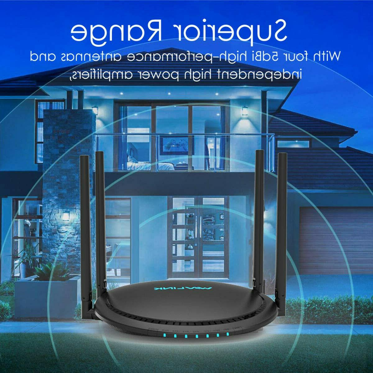 1200Mbps Smart Wifi Router AC1200 Dual Gigabit Ethernet Wireless + 2.4