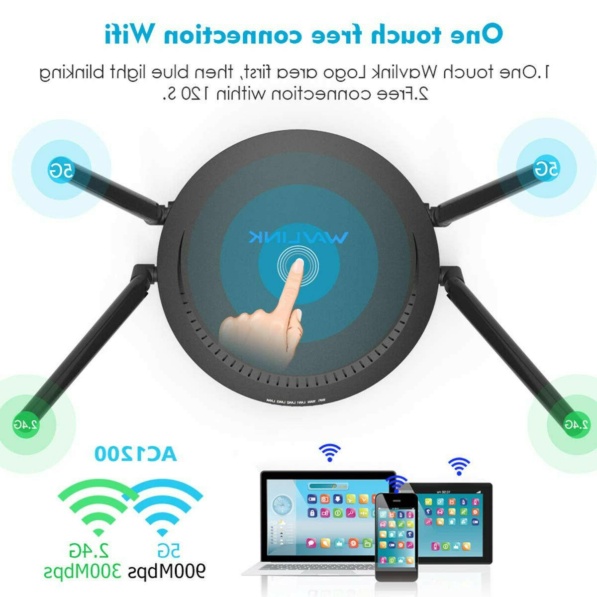 1200Mbps Smart Wifi Router AC1200 Dual Ethernet 2.4