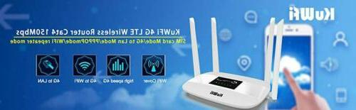 KuWFi 300Mbps 4G Wireless Router Antenna