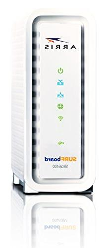 ARRIS SURFboard DOCSIS Cable Modem / N300 Packaging-White