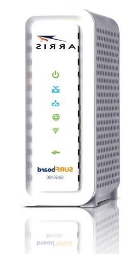ARRIS 8x4 DOCSIS 3.0 / N300 Router-Retail Packaging-White