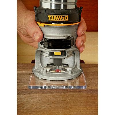 DEWALT 1-1/4 HP Variable Speed Compact Router with LED New