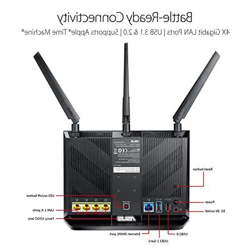 ASUS Gigabit Wireless 1.8GHz AiProtection Network
