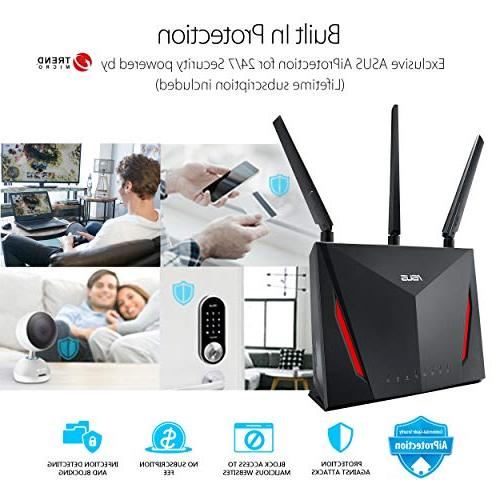ASUS Dual-band Gigabit 1.8GHz Dual-core AiProtection Network
