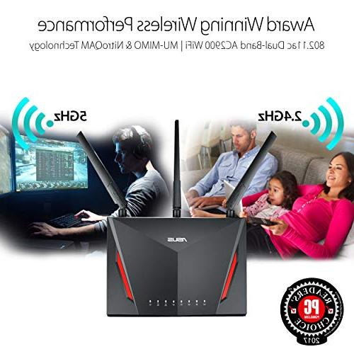 ASUS AC2900 Gigabit Router 1.8GHz Dual-core and AiProtection Network