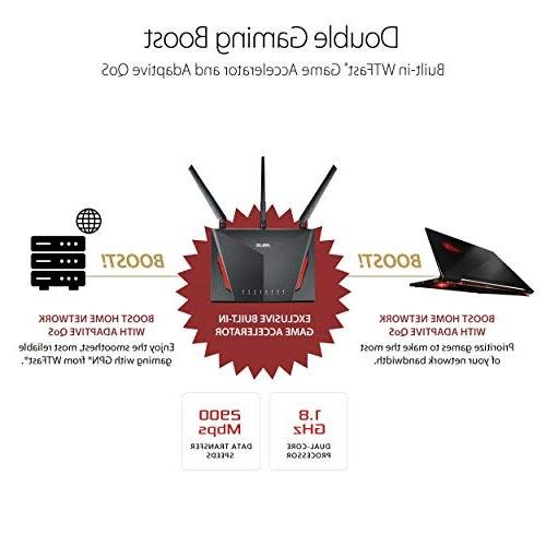 ASUS Dual-band Gigabit 1.8GHz Processor AiProtection Network