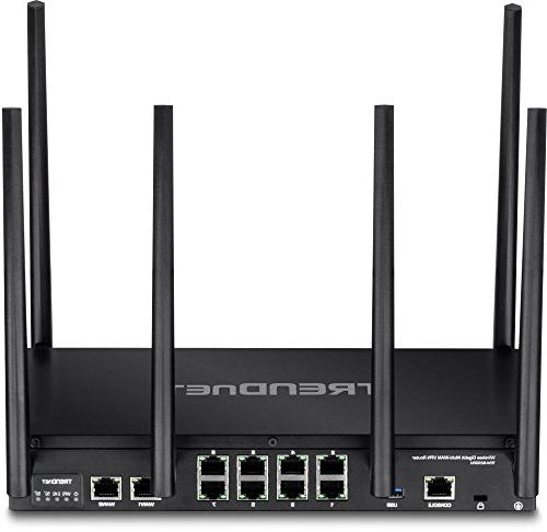 TRENDnet AC3000 Tri-Band Gigabit Dual-WAN VPN SMB Router, Router Limits, QoS, routing,