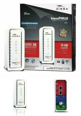 arris surfboard docsis 8x4 cable modem telephone certified x