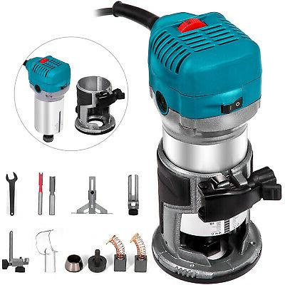 compact router kit variable speed fixed base