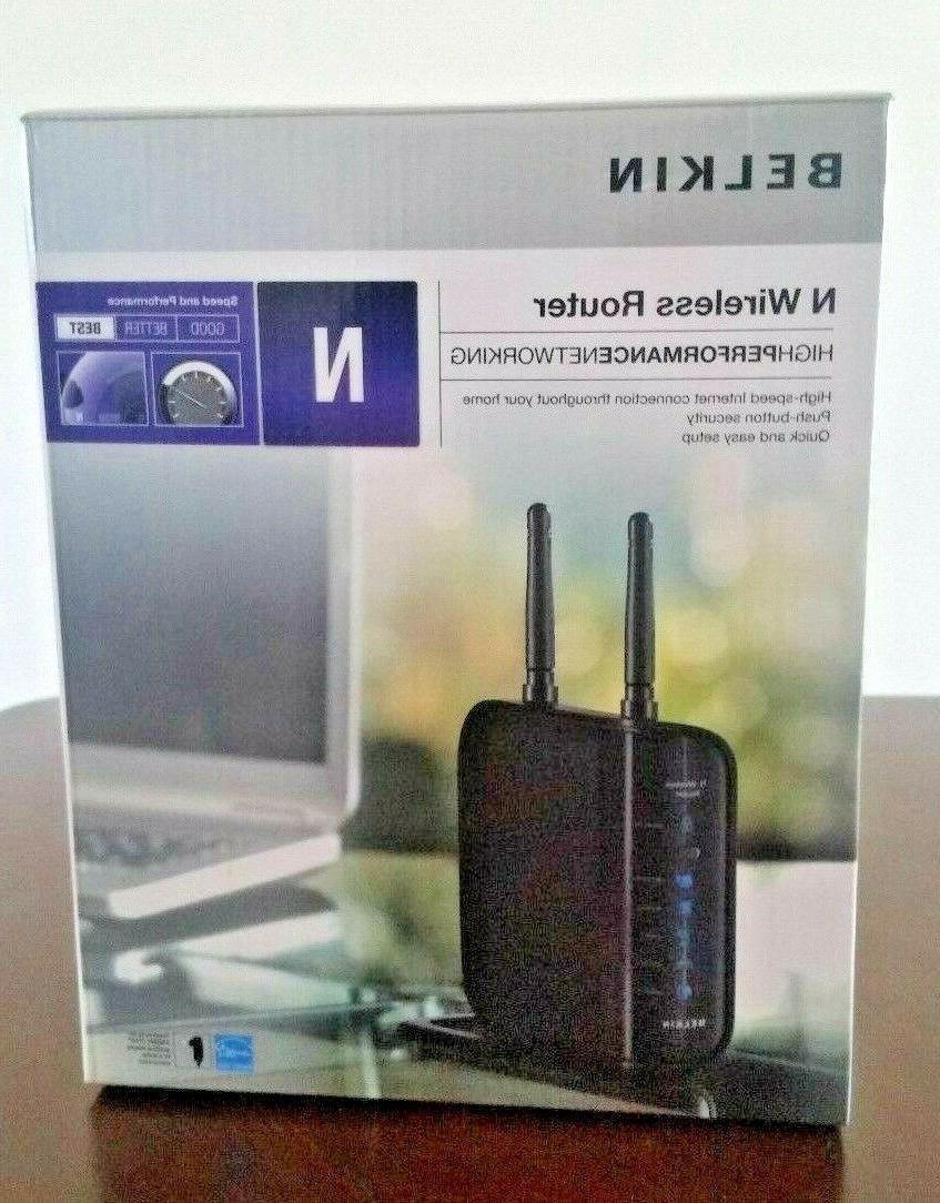 Belkin F5D8236-4 4-Port 10/100 Wireless N Router