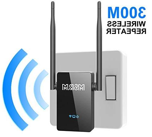 MSRM WiFi Range 300Mbps Wireless Repeater 2.4GHz with Support Repeater/Router/AP