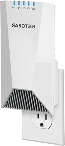 NETGEAR Nighthawk Wall-Plug Tri-Band WiFi Mesh Extender, WiFi Name, any WiFi