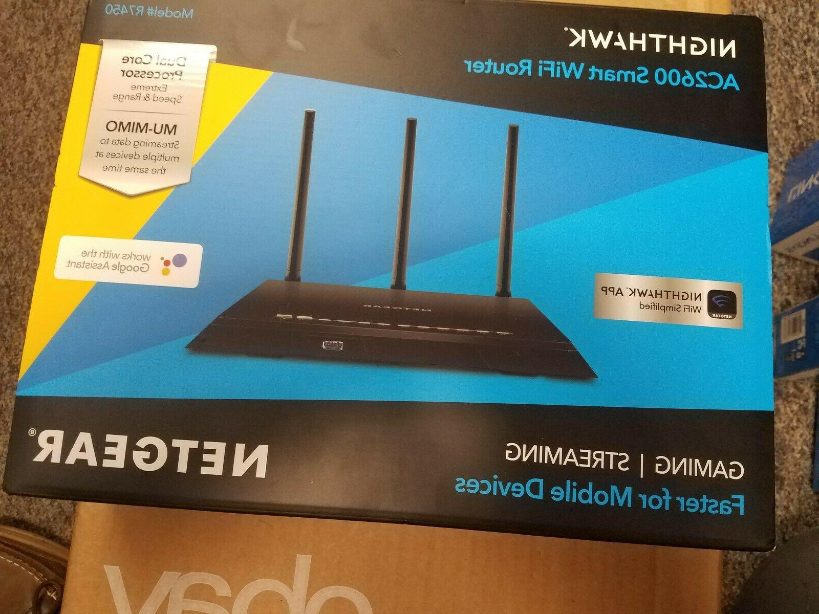 new nighthawk ac2600 smart wifi router r7450
