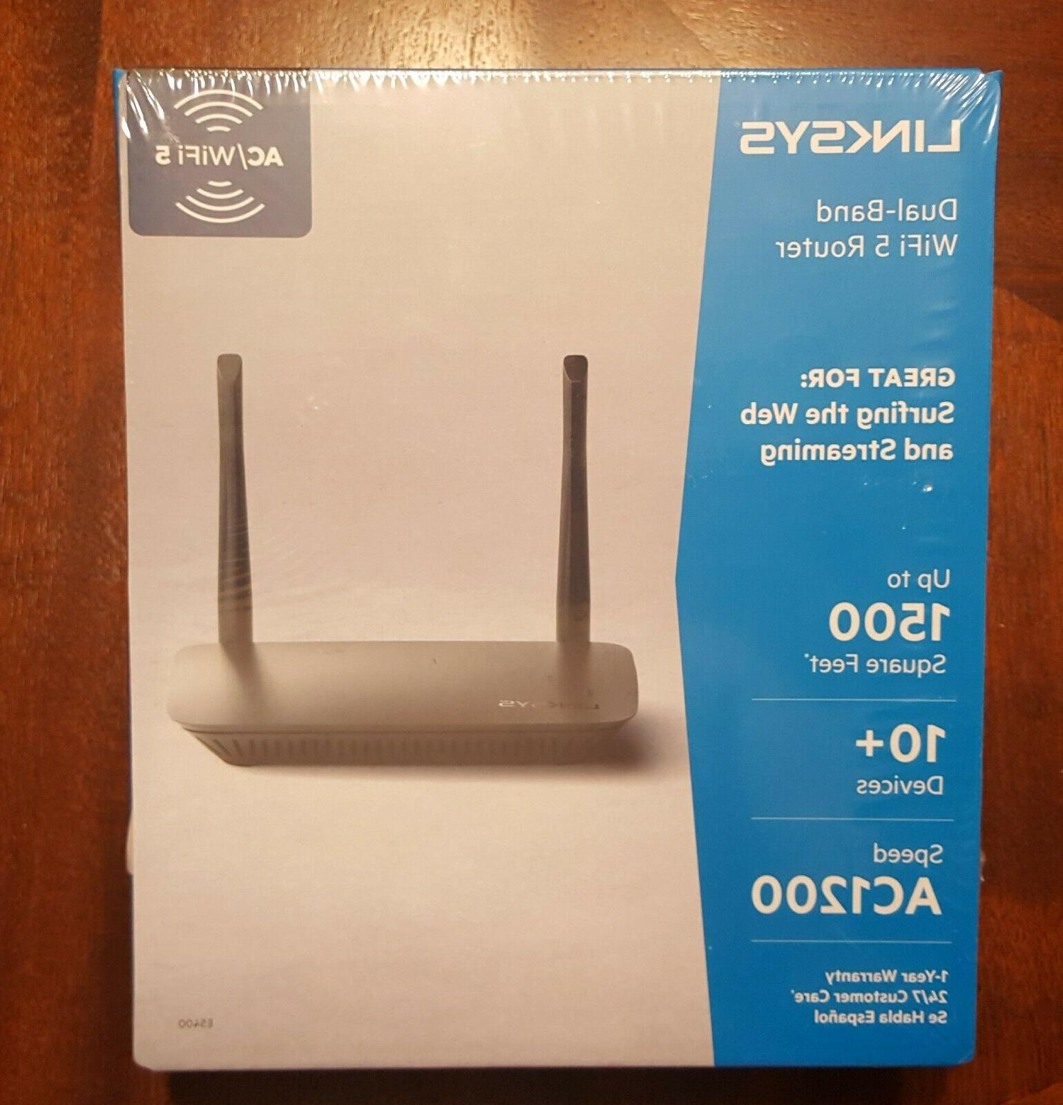 new sealed e5400 ac1200 dual band router