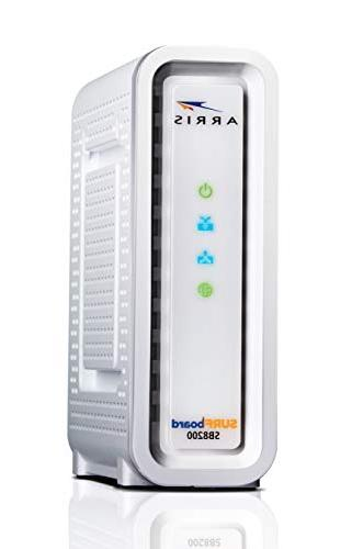 Next-Generation SURFboard SB8200 DOCSIS 32x8 Cable Modem - Frustration Packaging- White