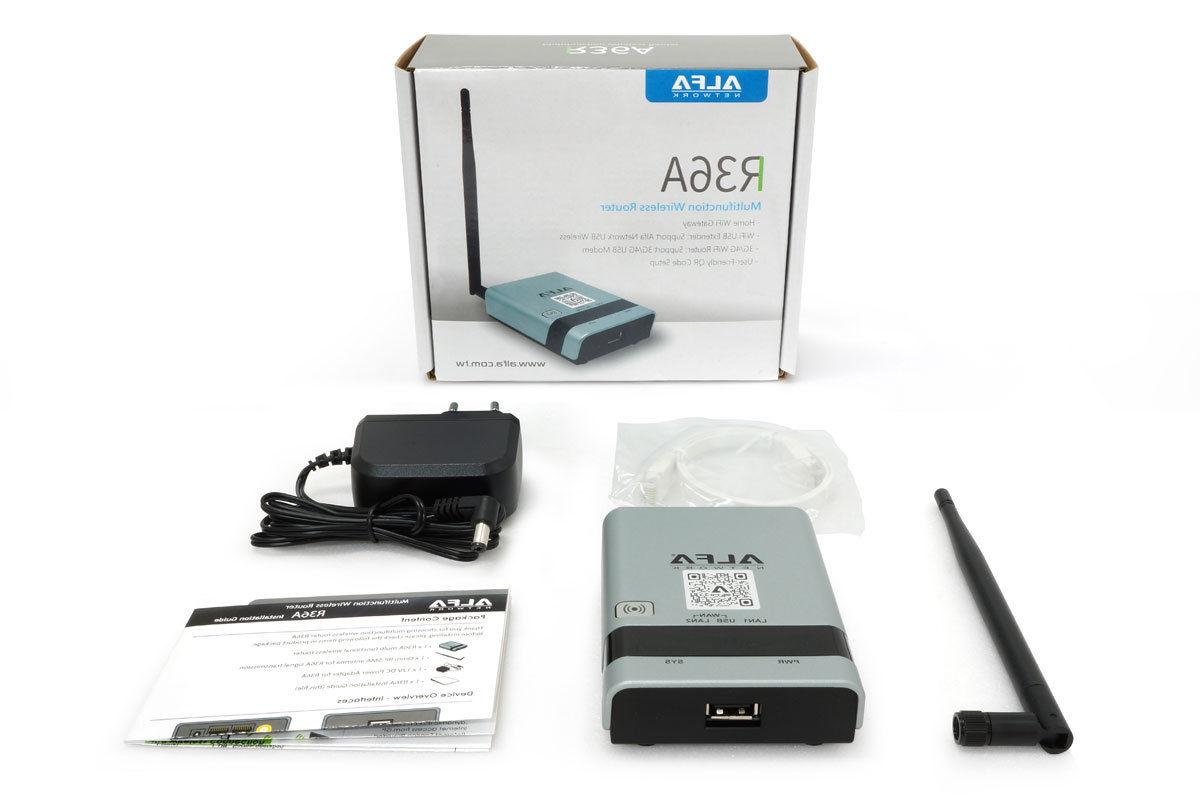 Alfa Camp Mini: R36A Router + Range Repeater Kit