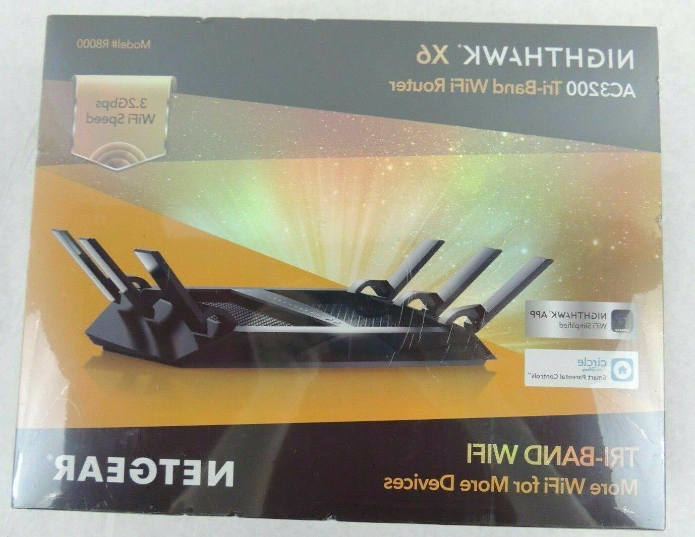 r8000 100na nighthawk x6 ac3200 tri band