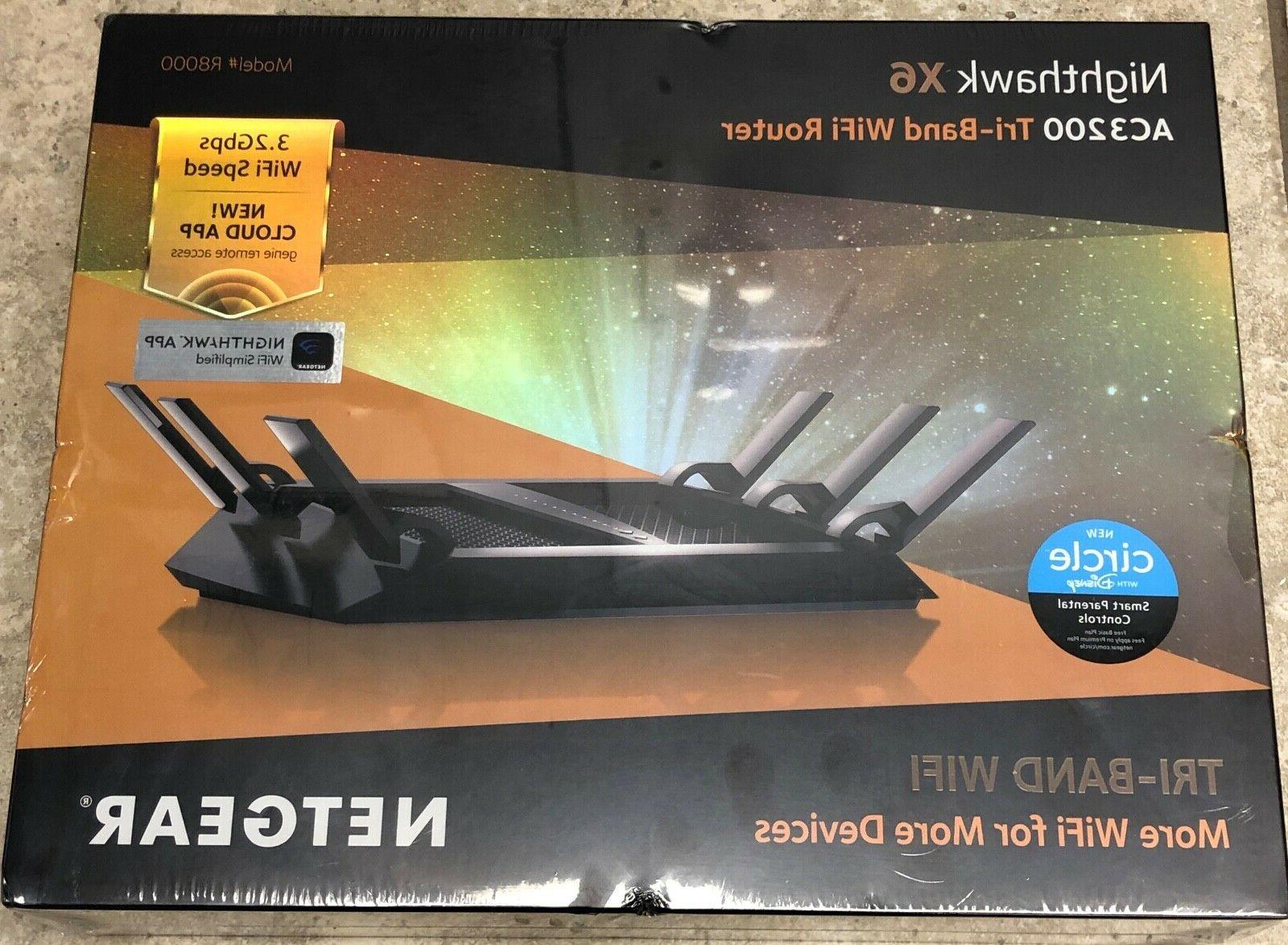 r8000 100nas nighthawk x6 ac3200 tri band