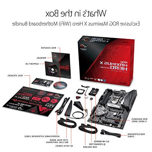 ASUS ROG Hero HDMI Motherboard with WiFi, USB Generation Processors