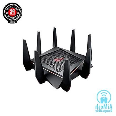 ASUS Router Tri-band WiFi Mbps for VR & 4K streaming, 1.8GHz