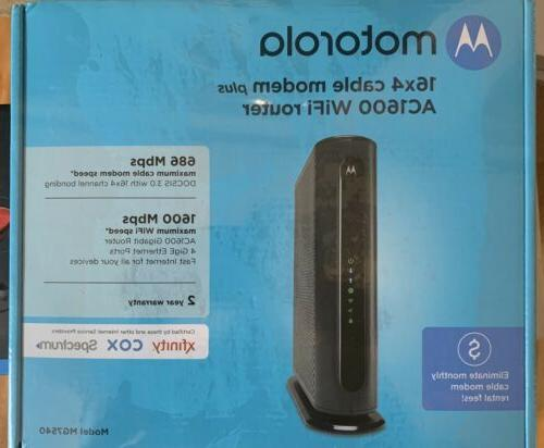 Motorola 16x4 High-Speed Cable Gateway with WiFi, 686 Mbps D