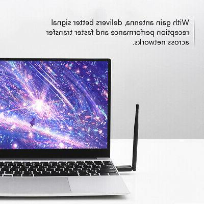 1200Mbps Adapter Rotatable Antenna &Play For Desktop