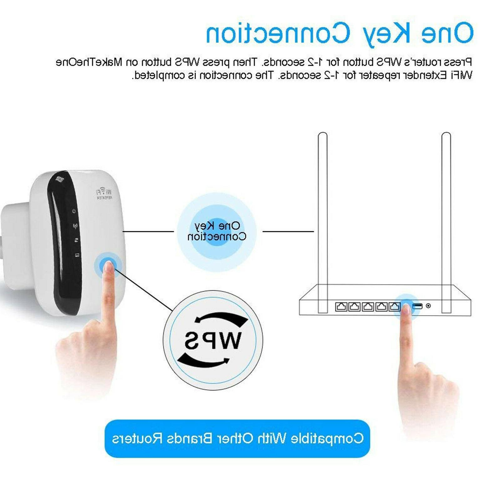 WiFi Extender Booster 300Mbps 2.4G Speed Home