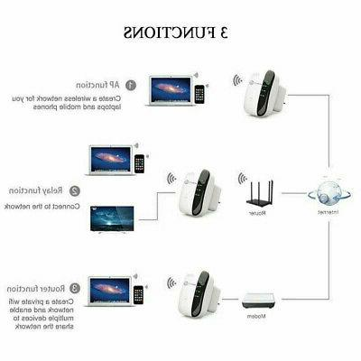 300Mbps Range Extender Network Router Signal Booster USA
