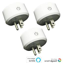Mini Smart Plug Outlet- Pack of 3 Compatible with Amazon Ale