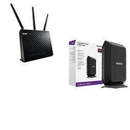 NETGEAR CM700  DOCSIS 3.0 Gigabit Cable Modem  and ASUS AC19