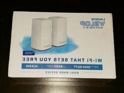 New Linksys Velop AC2400 Whole Home Wifi Intelligent Mesh Sy