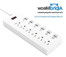 Power Strips 6-Outlet Surge Protector 6ft Cord Power Strip w