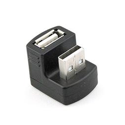 Right Angled USB Adapter A Male to Female Extension 90 180 D