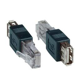 SinLoon AF-RJ45 USB to USB Female to AF-8P8C Connector Cryst
