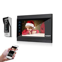 """TMEZON 7"""" WIFI/Wired Video Doorphone TFT Color LCD Display V"""