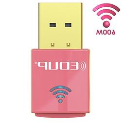 EDUP WiFi Adapter AC600Mbps, USB Wireless Adapter Dual Band
